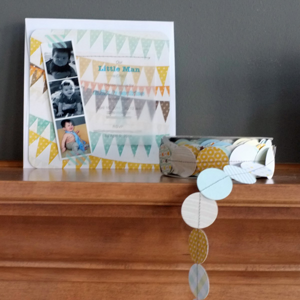 Milk and Cookies Party Invitations and Bunting