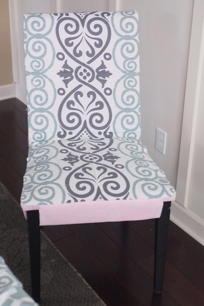 Tablecloth turned slipcover