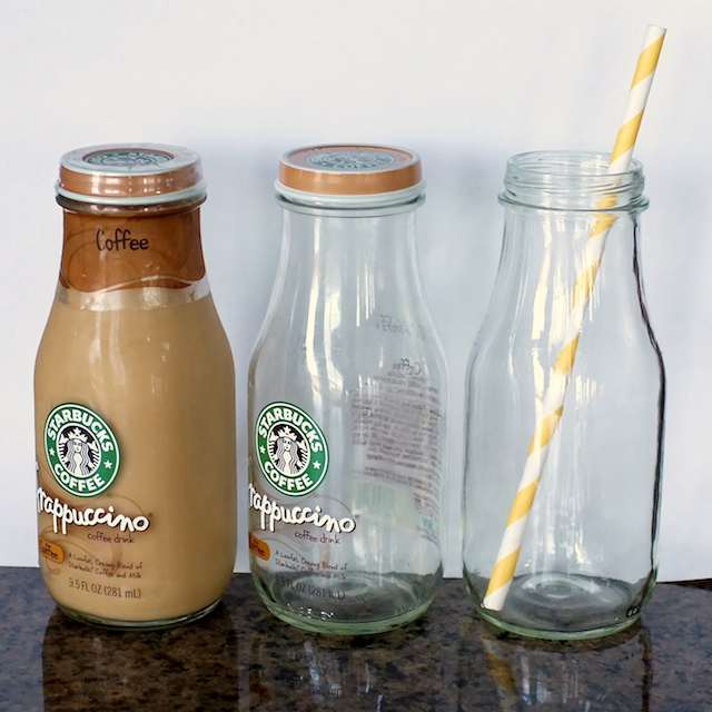 DIY Cheap Glass Milk Bottles | tealandlime.com