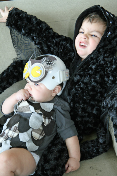 Baby Owl and Spider Halloween Costumes