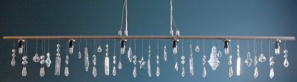 Ikea light to crystal chandelier