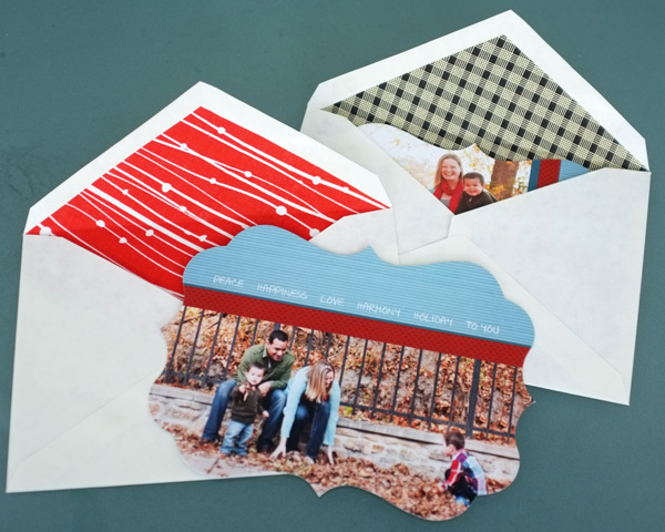 DIY Fabric Lined Envelopes