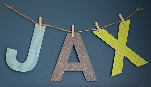 Paper letter bunting
