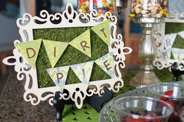 Framed Moss Party Sign