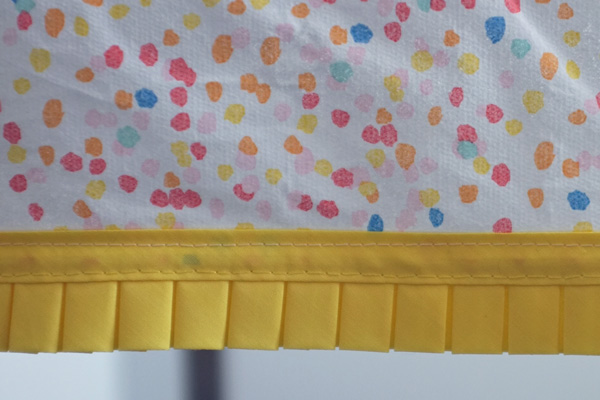 Add a ruffle to a party table cloth