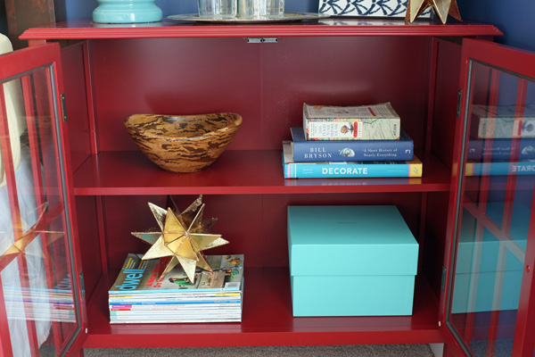 Bookshelf Styling for Glass Door Cabinet