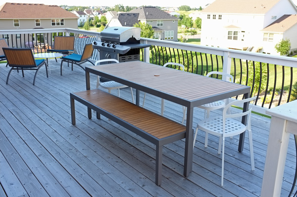 Deck for entertaining