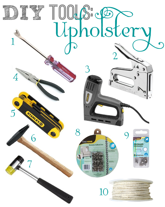 DIY Upholstery Tools