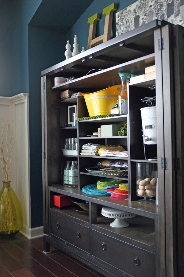 Party Supply and Decor Storage