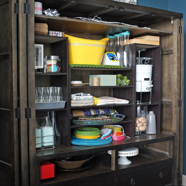 Party Decor Storage Armoire