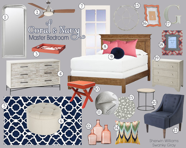 Coral&NavyBedroom