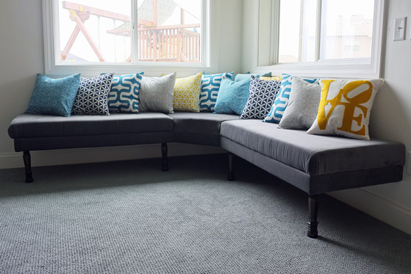 DIY upholstered banquette