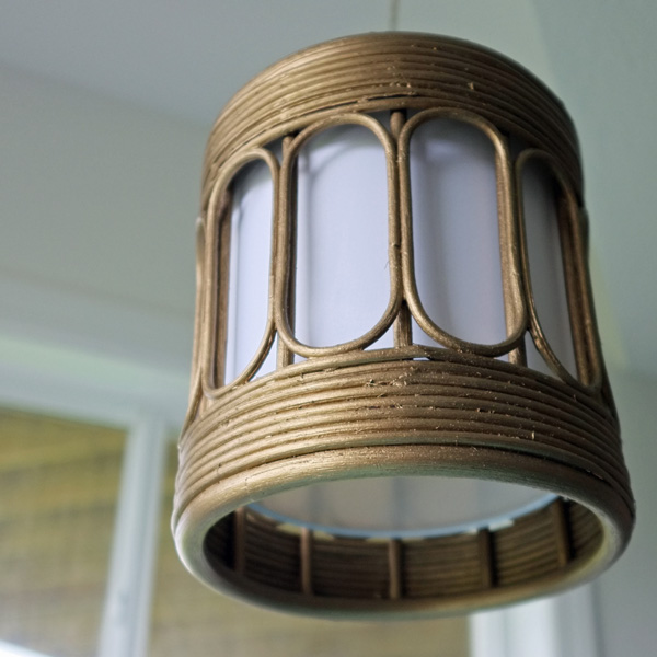 DIY Brass Pendant Light