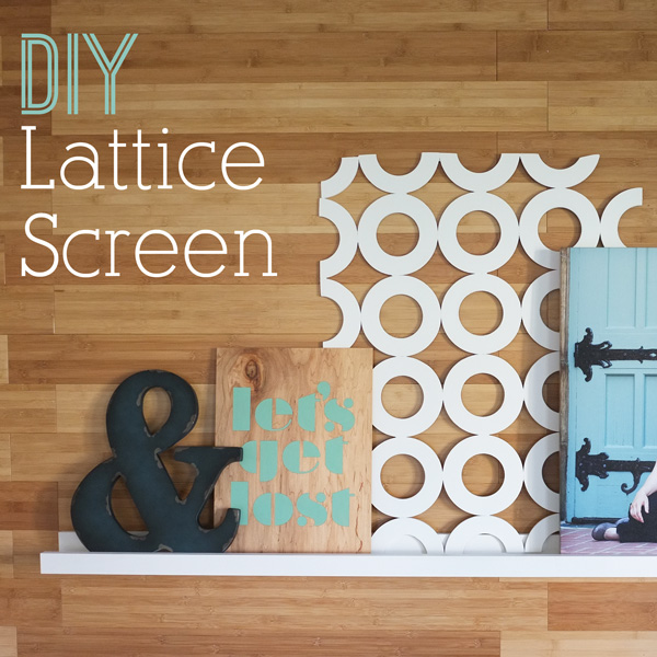 DIY Lattice Screen