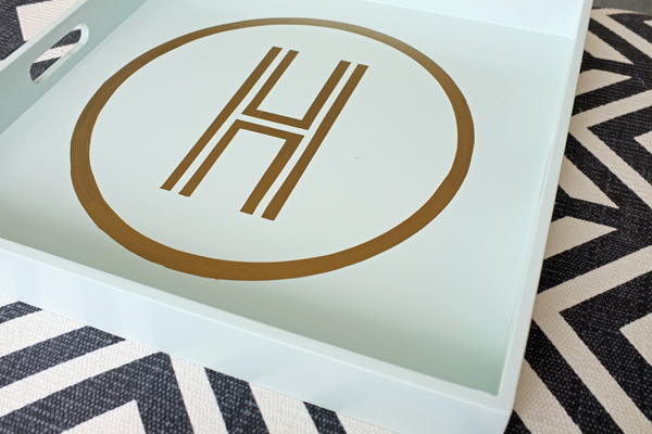 DIY Monogram Tray