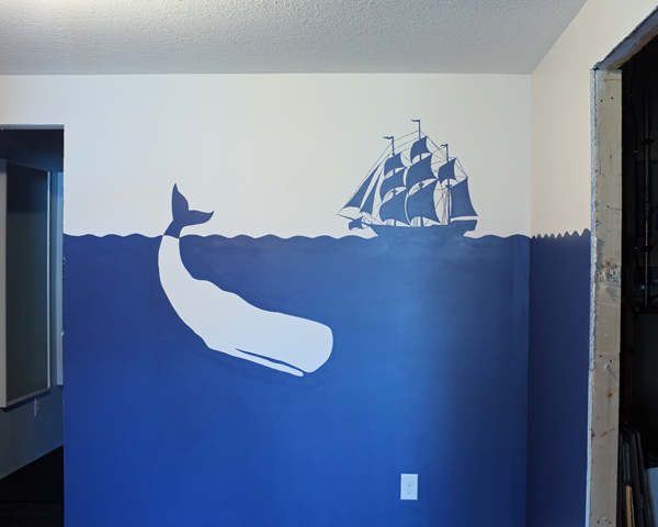 pirate wall mural