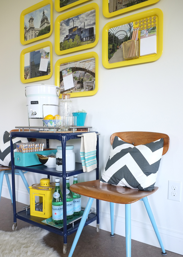 DIY Magnetic Photo Message Board