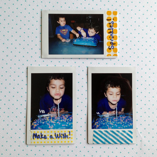 Instax Mini Photos with Washi Tape Labels