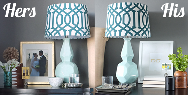 How to Decorate His and Hers Nightstands You'll Love to Wake Up To | tealandlime.com