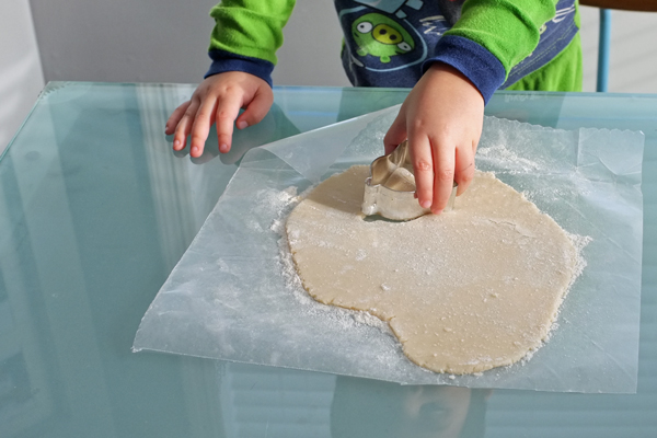 How to make easy cut out sugar cookies from refrigerated dough | tealandlime.com