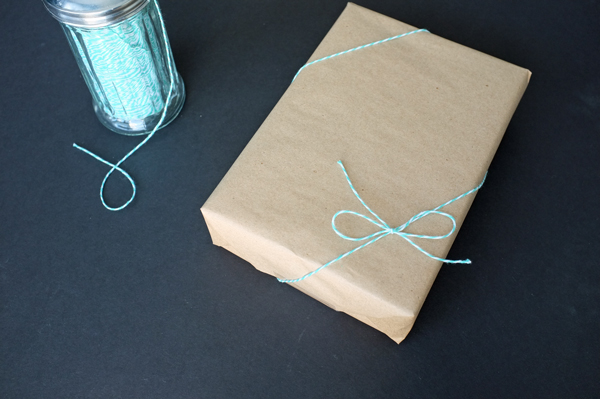 how to tie a gift with Baker's Twine