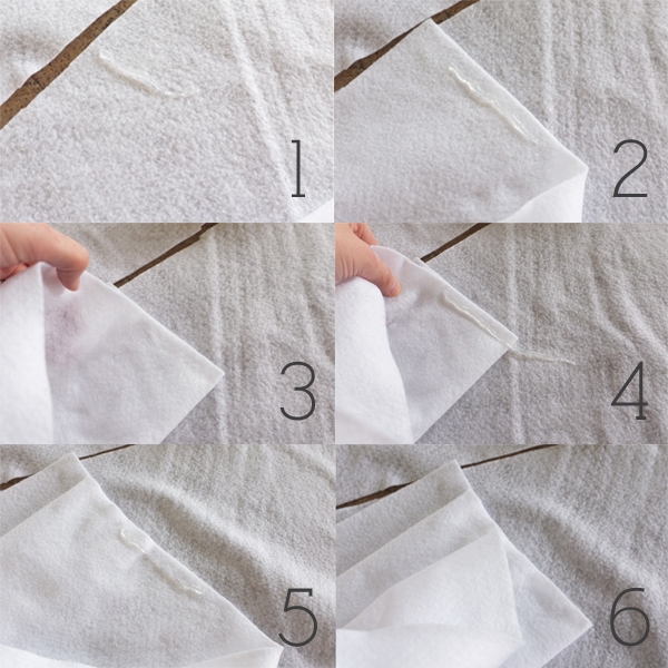 how to make a no-sew felt ruffle tree skirt