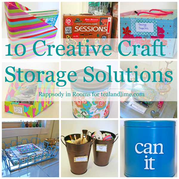 Creative Craft Storage Solutions by Rappsody in Rooms for tealandlime.com