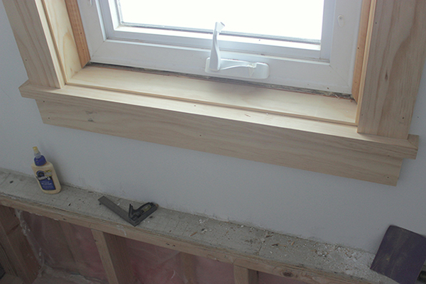 Final Window Sill and Apron