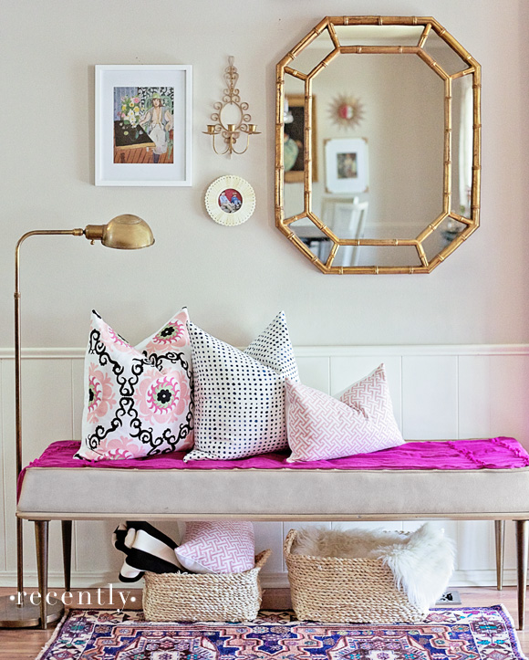 furbish-pillows-entry-bamboo-mirror-gold-lamp