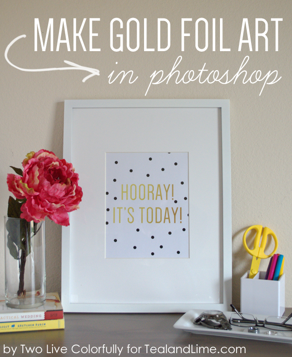 Gold Foil Art in Photoshop!