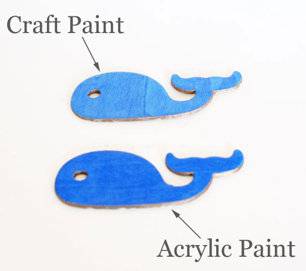 Comparing Craft and Acrylic Paint | rappsodyinrooms.com for tealandlime.com