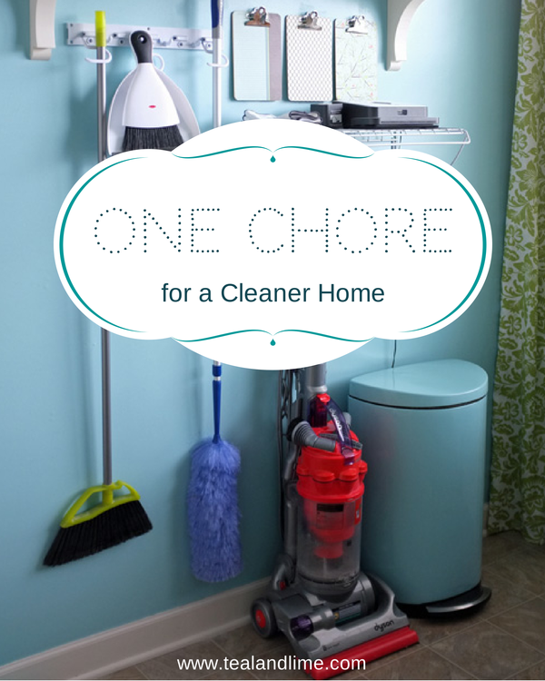 What if there was just one chore that made your home cleaner | tealandlime.com