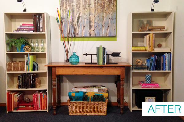 How to Style Bookshelves | www.schoolofdecorating.com