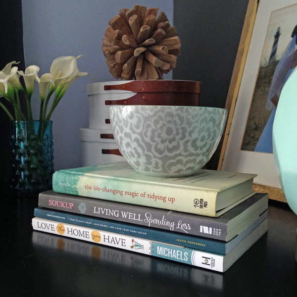 Inspiring decorating books to keep on your nightstand.