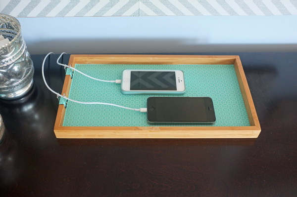 Simple phone charging station
