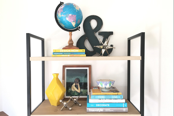How to style the top of a bookcase