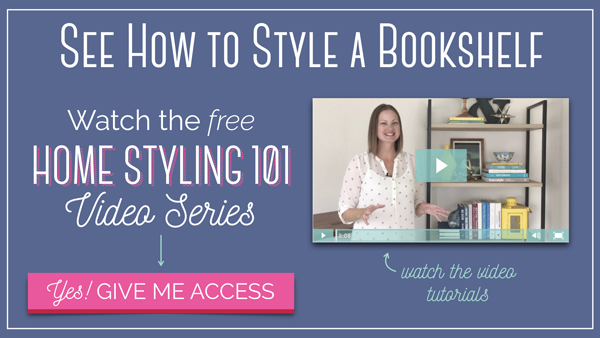 Video tutorial: How to Style a Bookshelf