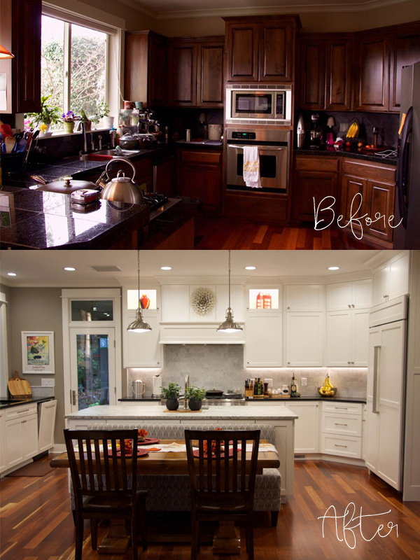 This is an amazing transformation. They only added 68 square feet to this kitchen and were able to completely reconfigure it. Click through to see the entire makeover.