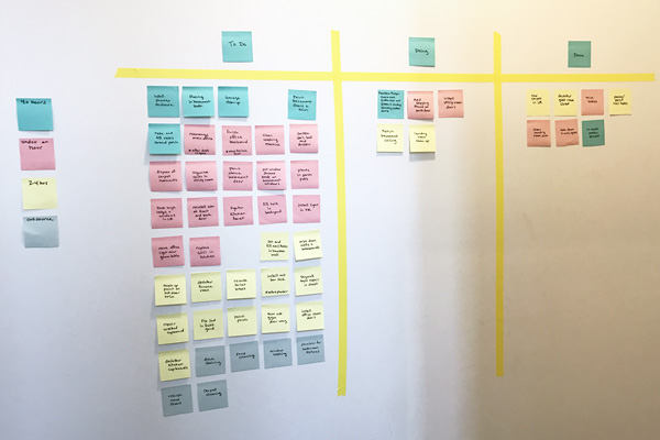 Have a million little projects to get done around the house? Try a Kanban board to visually manage your task list and get more done in less time.