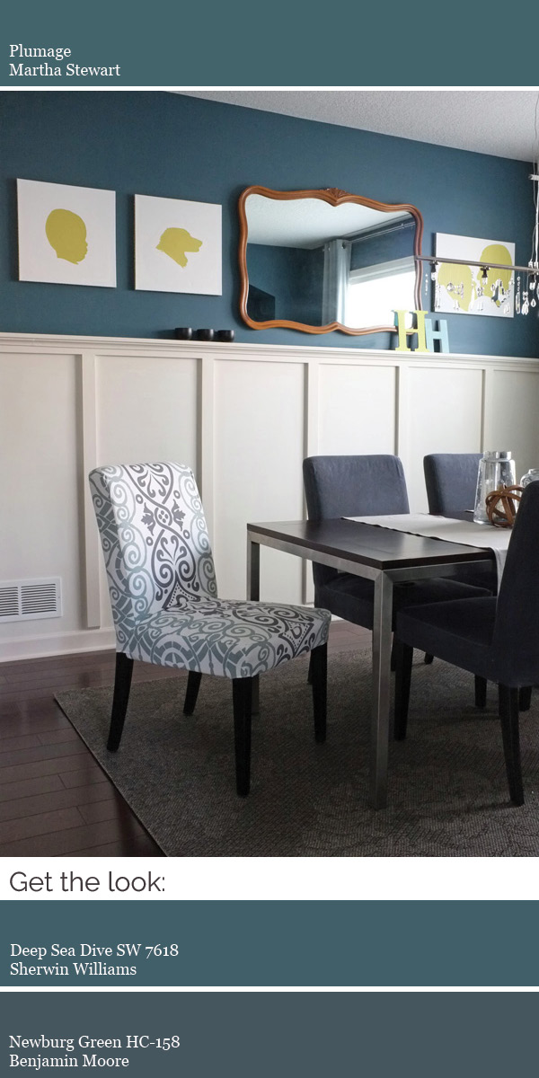 Create a modern whole house color scheme. Try dark teal in a dining room or bedroom.