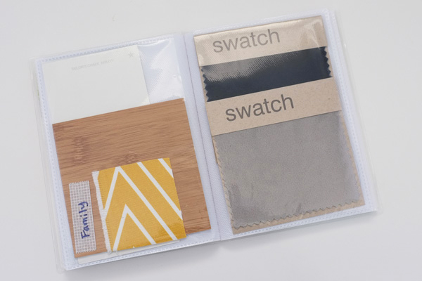 Create a simple swatch book to hold paint samples and fabric swatches. Take it with you whenever you're shopping for home decor. Read this article for more tips on matching accent colors when decorating.