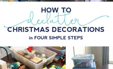 I cut my Christmas storage by more than half! These four steps were really helpful to declutter my Christmas decorations.