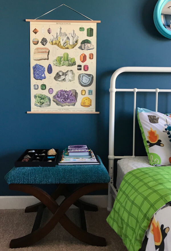For big art on a budget try vintage-style school charts. Perfect for a kids room.