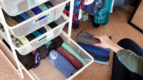 How to fold your clothes so you can fit more in small drawers