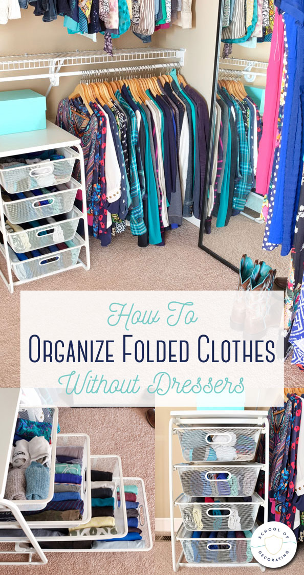 How to store and organize folded clothes without dressers using an inexpensive IKEA drawer unit
