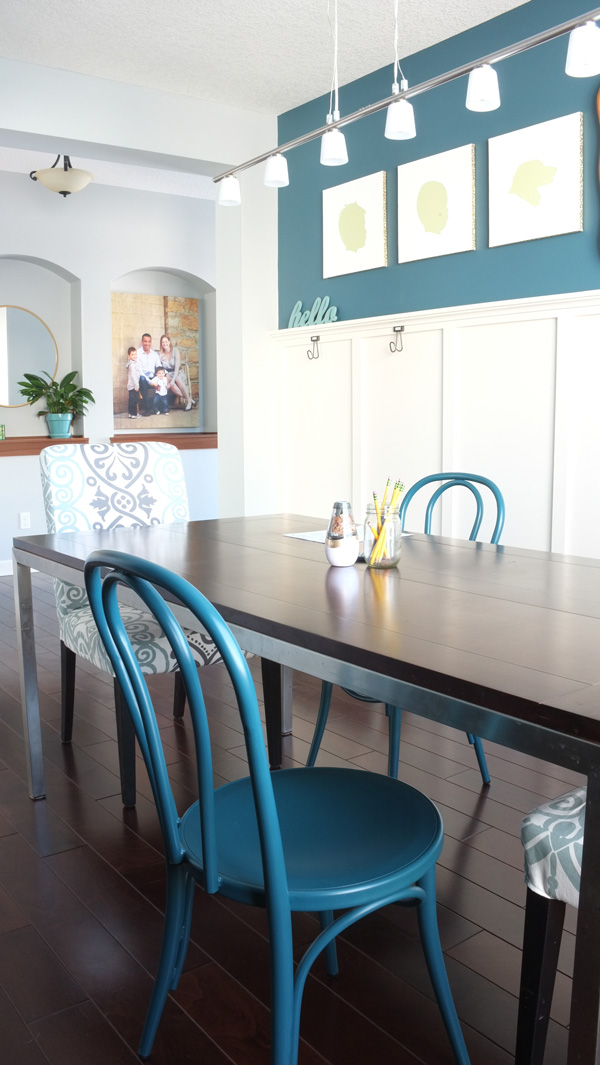 How we turned our formal dining room into a homework room where the kids can study