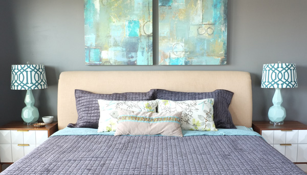 styling a bed with minimal decorative pillows