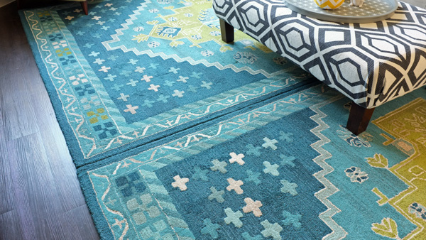 Join two rugs to make one large area rug