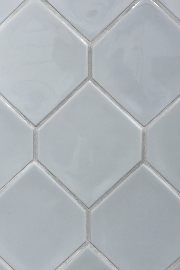 Daltile Retrospace Sky Blue Hexagon ceramic tile