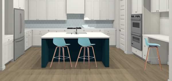 turquoise upholstered counter stools